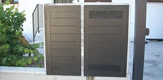 copri contatori porte ferro inox carter protezioni lattoneria coperture sportelli costruzioni arredo urbano