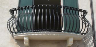 parapetto balconi ferro battuto vetro inox design