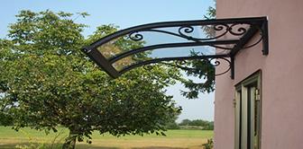 pensilina tettoie ferro plexiglass vetro