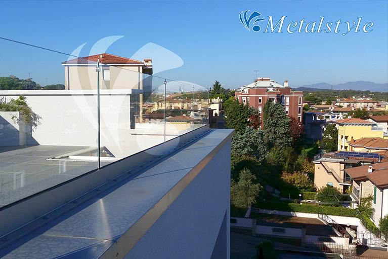 balcone parapetti vetro inox est1