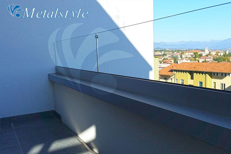 balcone parapetti vetro inox int1