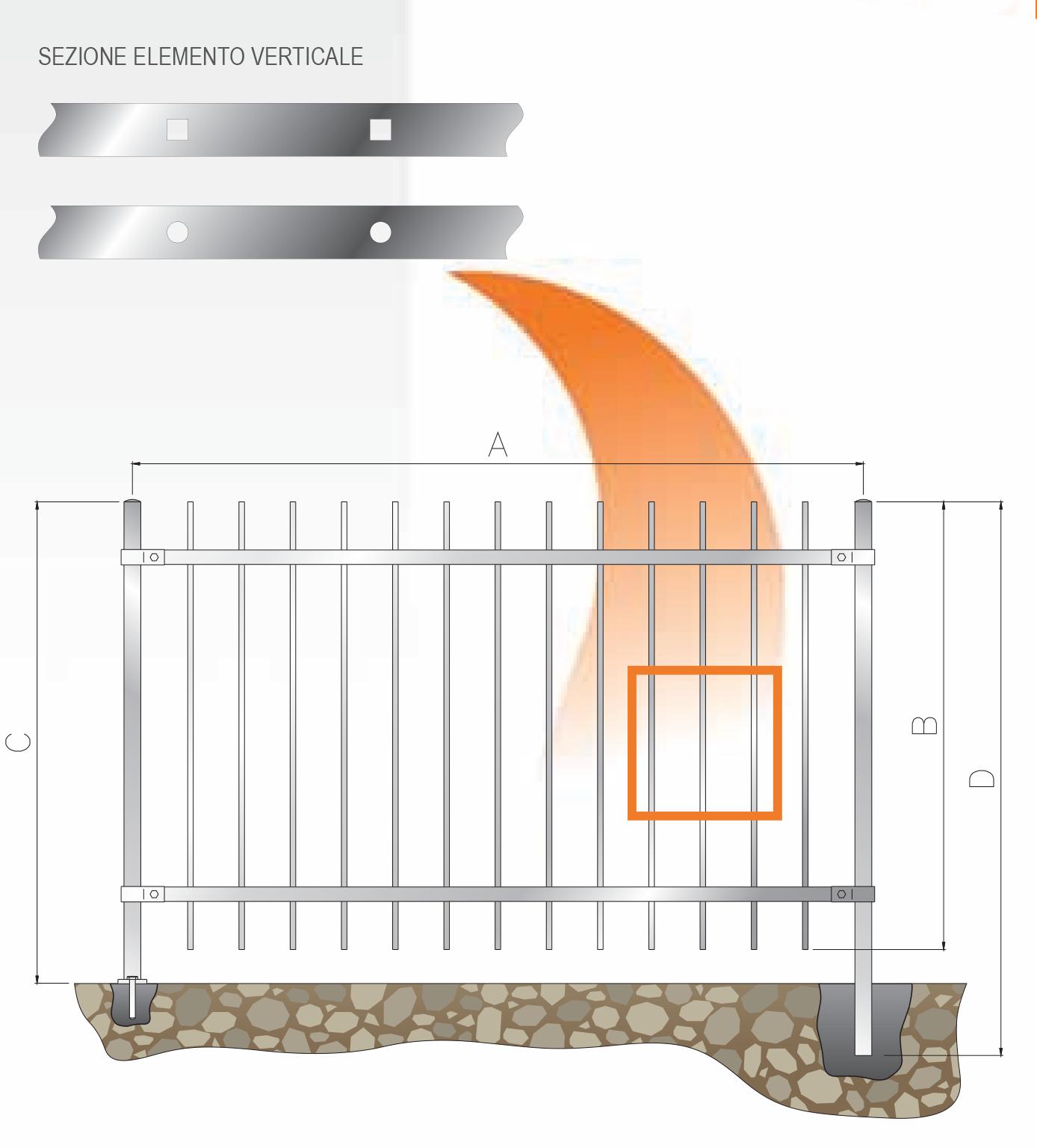 recinzione tondo quadro 2