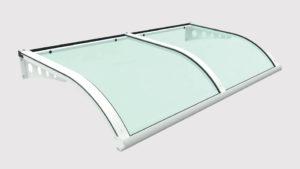 pensilina tettoie ferro plexiglass forata