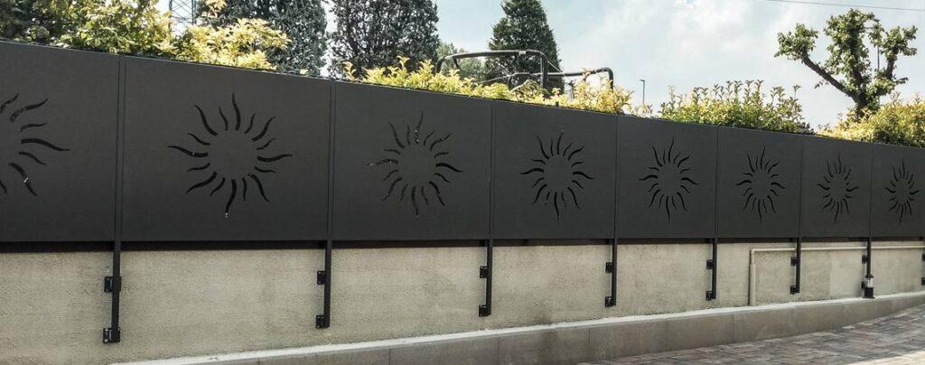 recinzione taglio laser