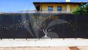 recinzione alta per giardino decorativa