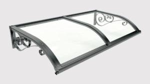 pensilina tettoie ferro plexiglass ricciolo