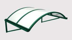 pensilina tettoie ferro plexiglass tunnel-puntone