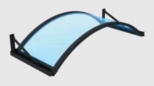 pensilina tettoie ferro plexiglass tunnel-tirante